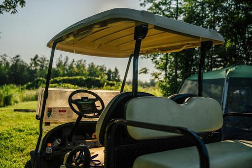 parked golfcart